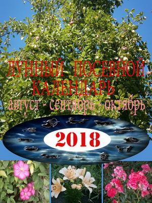 Лунный посевной календарь на 2018 год август – сентябрь – октябрь